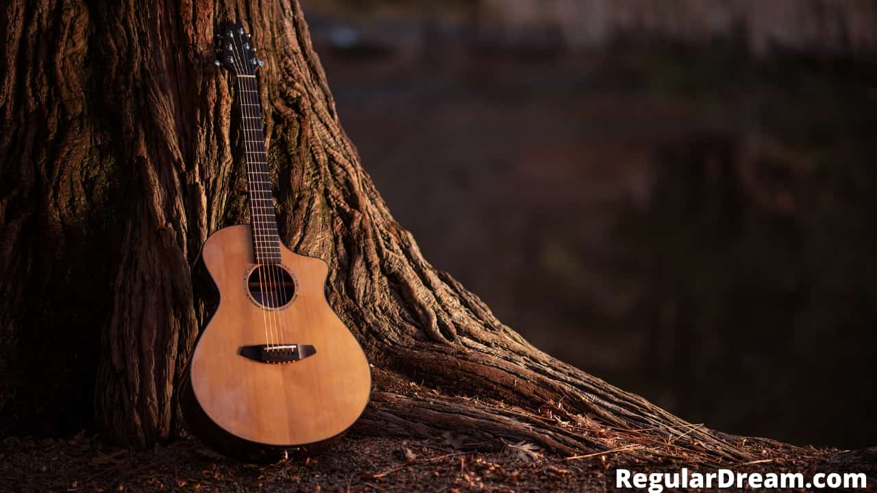 What does Dream of intoning with a Guitar mean?